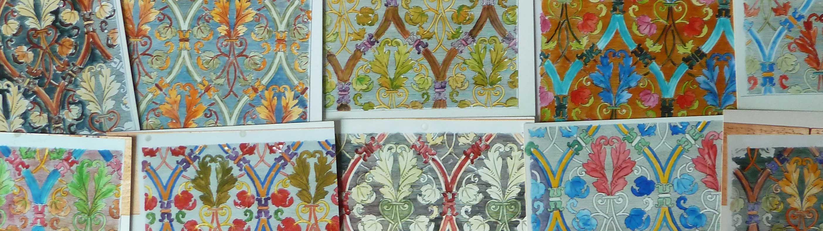 Zehn verschiedene Tapeten mit Farbgestaltung Designs