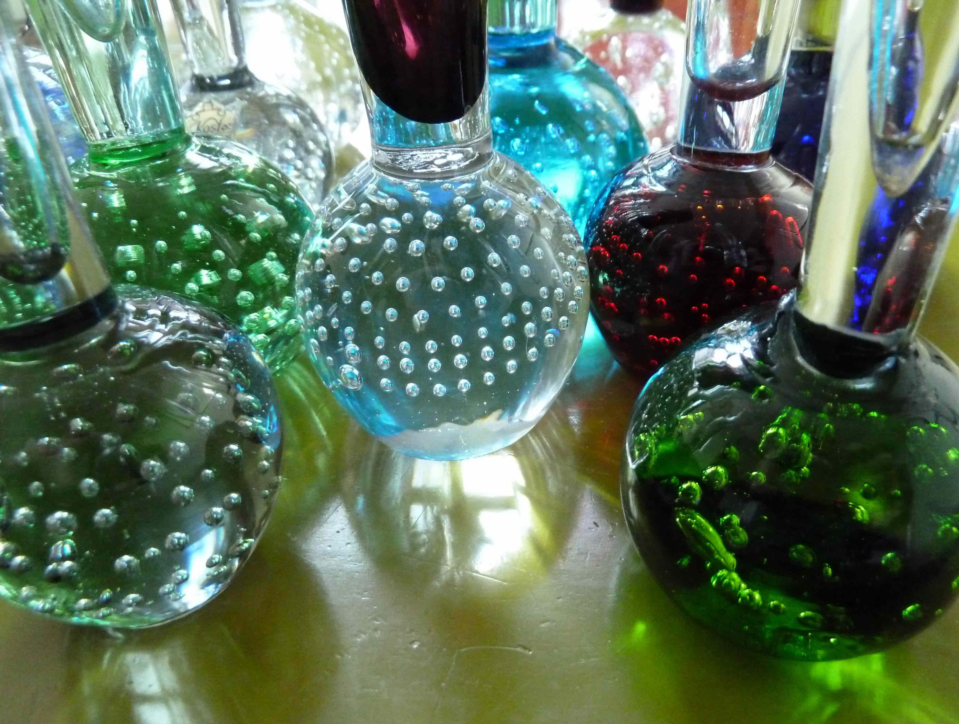 Glasvasen und Lufteinschlüsse
