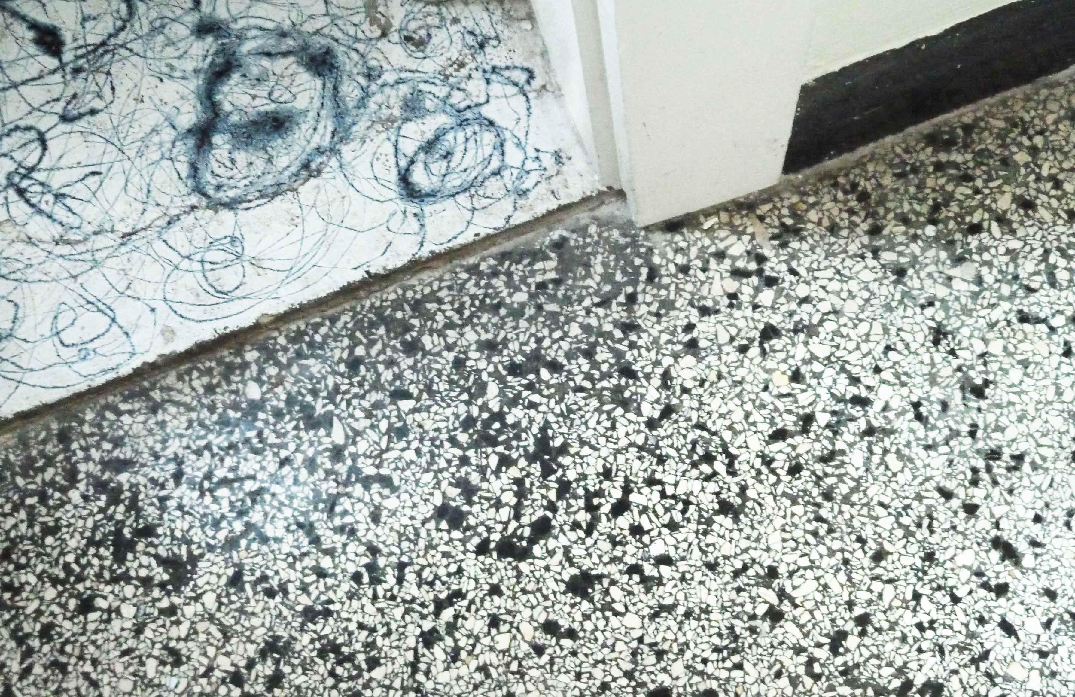 Terrazzo und Dripping Fußboden